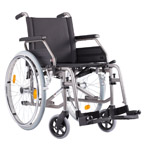 silla de ruedas de acero